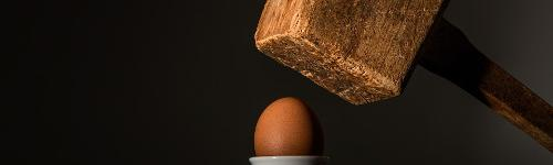 This is the Internet: one big hammer coming down hard on your thin, egg-like shell.
